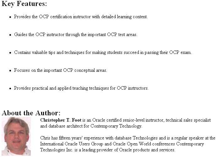 Oracle OCP Certification Exam Book